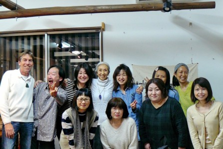 SHIMA: With the participants of the 'Conscious Creating' Talk & Meditation evening